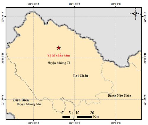莱州省再发生4.9级地震 一所幼儿园的石膏天花板塌陷 4名儿童受轻伤 hinh anh 1