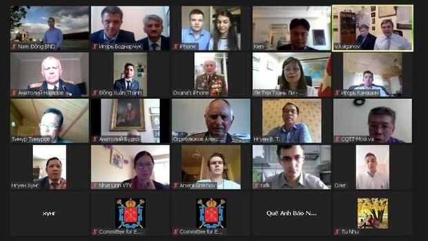纪念南方解放45周年和越俄建交70周年视频研讨会在俄罗斯举行 hinh anh 1