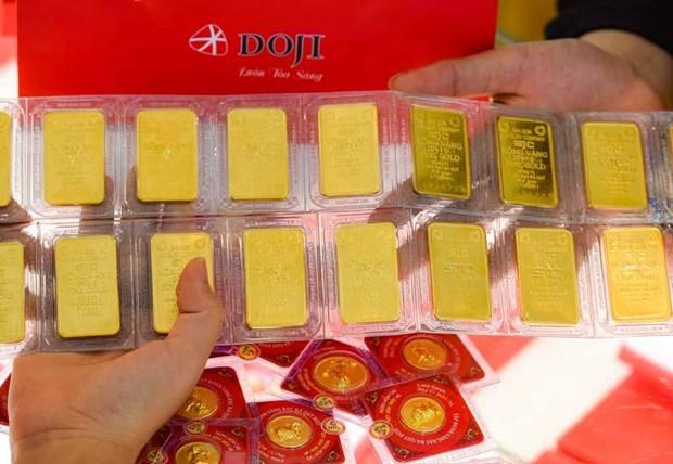 6月18日越南国内黄金价格上涨7万越盾 hinh anh 1