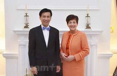 越南驻新西兰大使谢文聪:越南与新西兰加强多个领域上加强密切合作 hinh anh 1