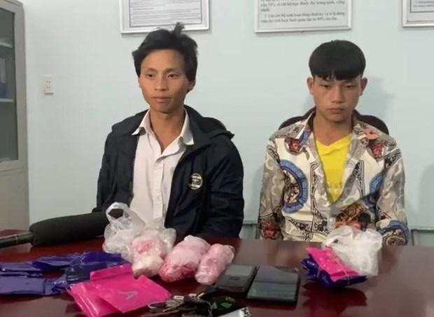 两名犯罪嫌疑人运输5400多粒合成毒品被抓 hinh anh 1
