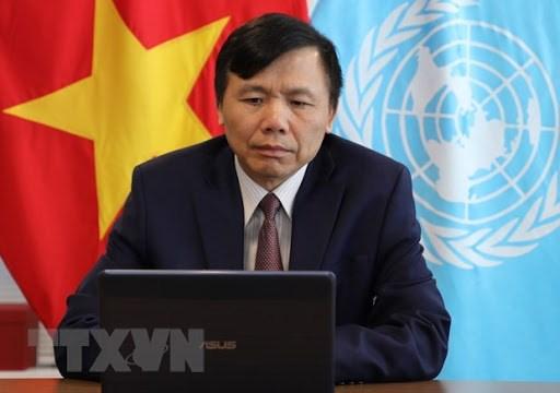 越南呼吁世界各国共同分担难民问题的负担和责任 hinh anh 1