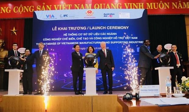 越南辅助工业数据库系统正式亮相 hinh anh 1