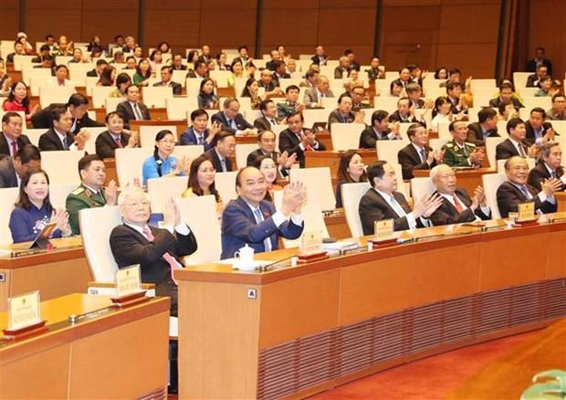 越南第十四届国会第九次会议圆满闭幕 通过了10项法律和21项决议 hinh anh 2
