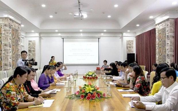 探讨相关政策 向已婚移民妇女回国提供支持 hinh anh 1