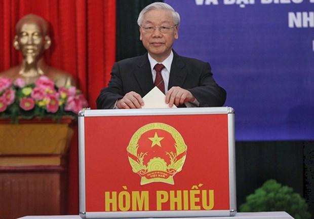 越共中央政治局签发关于第十五届国会选举的指示 hinh anh 1