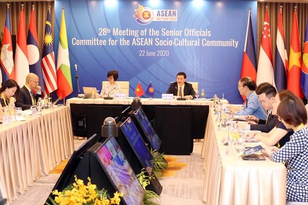 越南主持召开东盟文化社会共同体高级官员视频会议 hinh anh 2
