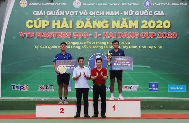 李黄南在2020年海灯杯Masters 500-1越南网球联合会大赛获得男子单打冠军 hinh anh 1