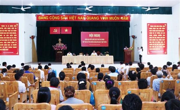 胡志明市市委书记开展接待选民活动 hinh anh 1