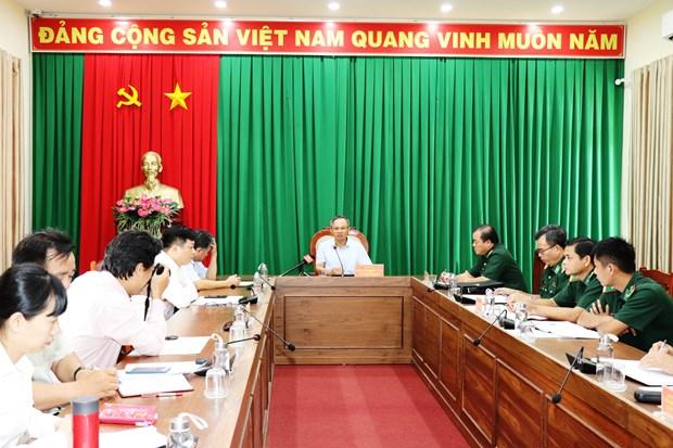 越南国会对外委员会代表团赴木牌国际口岸调研新冠肺炎疫情防控工作 hinh anh 1