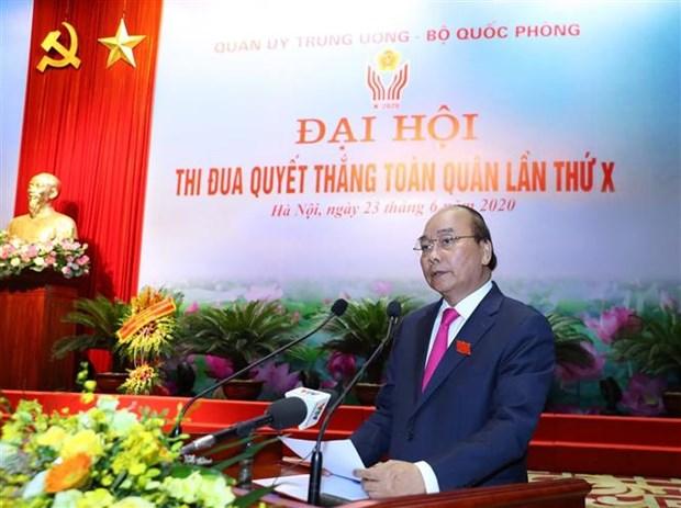 越南政府总理阮春福出席第十届全军决胜竞赛大会 hinh anh 4