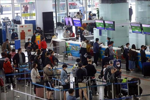 内排国际机场客运服务已恢复正常 hinh anh 1