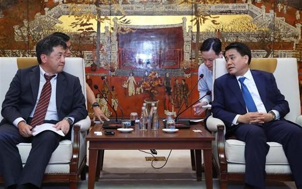 河内与日本国际协力机构加强合作 保障各项目施工进度 hinh anh 2
