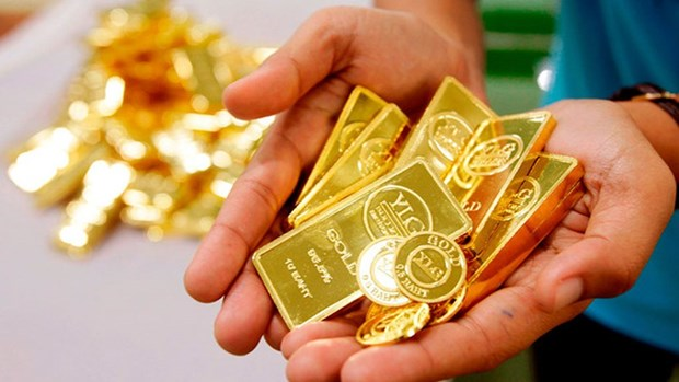 越南国内黄金价格保持在4900万越盾以上 hinh anh 1