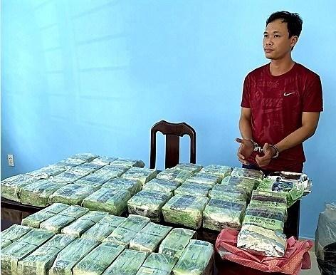 胡志明市公安破获一起跨境贩毒案 缴获毒品86公斤抓获犯罪嫌疑人12人 hinh anh 1