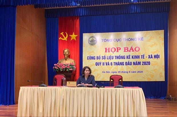 2020年上半年越南GDP增长率达1.81% hinh anh 1