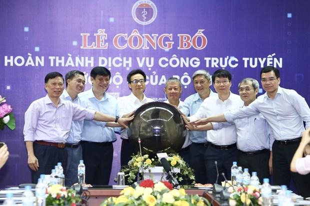 越南卫生部提前5年全部完成四级在线公共服务平台建设 hinh anh 1