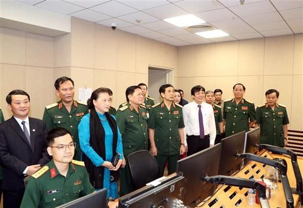 越南国会主席阮氏金银出席防疫一线人员表彰大会 hinh anh 3