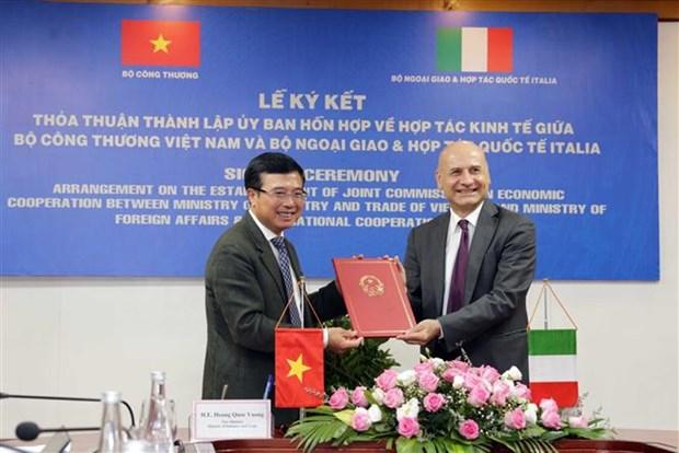 越南与意大利经济合作混合委员会成立 hinh anh 2