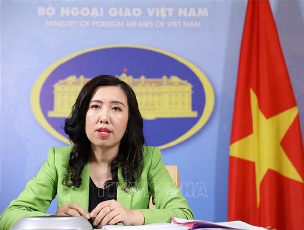 越南外交部发言人黎氏秋姮:越南反对中国在黄沙群岛海域举行非法军演 hinh anh 1