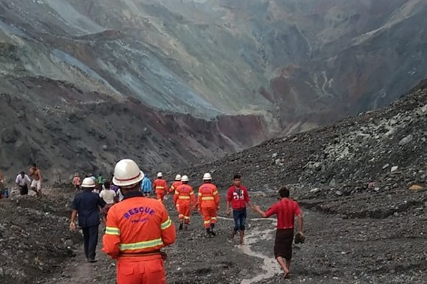 缅甸发生山体滑坡 至少50人死亡 hinh anh 1