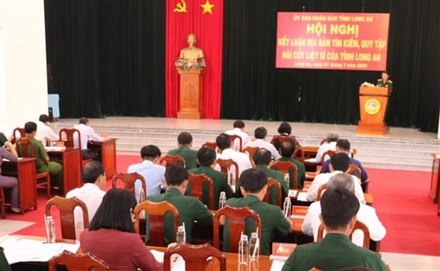 越南隆安省归集3.55万名烈士的遗骸 hinh anh 1