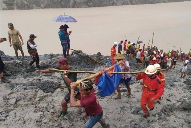缅甸北部矿区发生山体滑坡 已造成160多人死亡 hinh anh 1