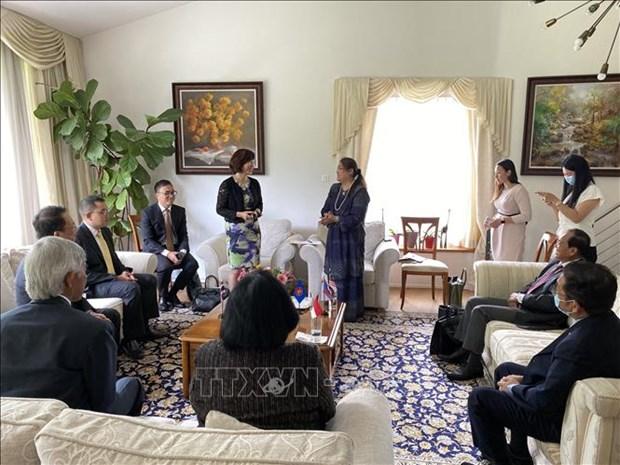 越南驻瑞士大使馆接任东盟委员会主席 hinh anh 1