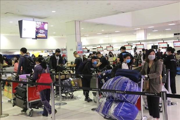 越南迎接350名旅外公民回国 hinh anh 1