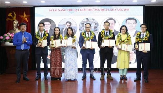 青年科技金球奖颁奖仪式在河内举行 hinh anh 1