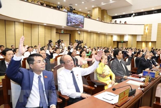 河内市人民议会代表为恢复首都增长势头和经济和社会的发展建言献策 hinh anh 2