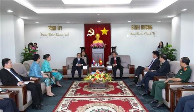 越南平阳省与老挝各省市加强合作关系 hinh anh 1