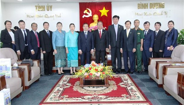 越南平阳省与老挝各省市加强合作关系 hinh anh 2