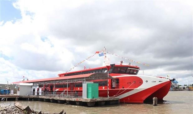 金瓯-南游-富国高速客船航线正式开通 hinh anh 1