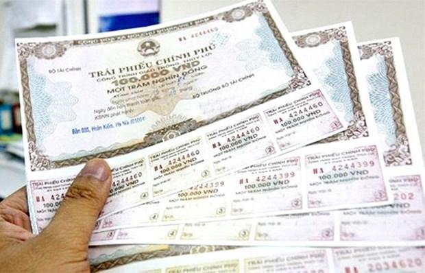 越南政府债券发行:各年期利率小福下降 hinh anh 1
