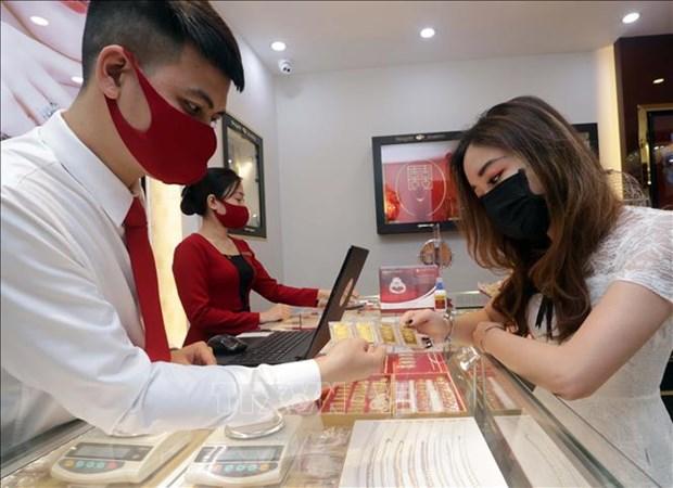 越南国内市场黄金价格接近5100万越盾一两 hinh anh 1