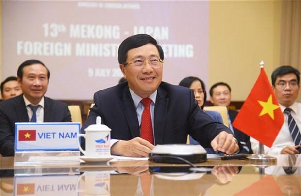 越南在第13届湄公河-日本部长级会议提出多项有效措施 hinh anh 1