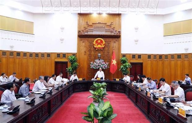 政府总理阮春福与槟椥省领导举行工作会谈 hinh anh 1
