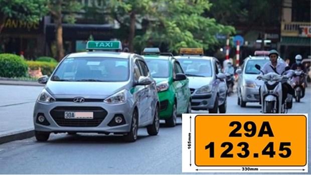 自2020年8月1日起越南营运车须挂黄色车牌 hinh anh 1