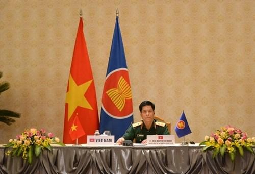 越南出席东盟陆军司令视频会议 hinh anh 1