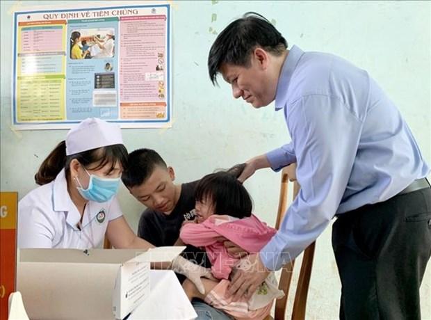 越南西原地区启动白喉疫苗接种运动 hinh anh 2