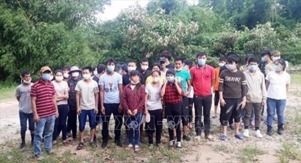广宁省对33名非法入境者进行隔离 hinh anh 1