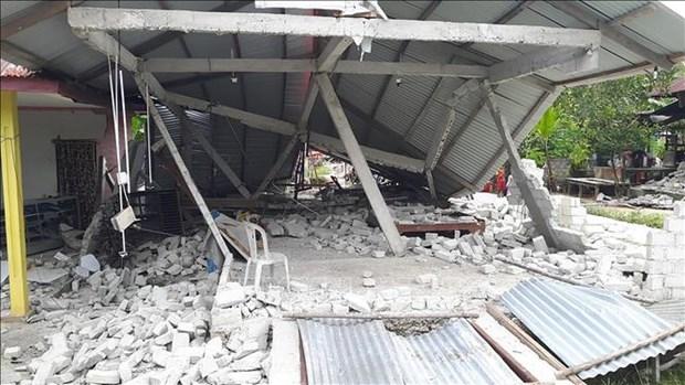 印度尼西亚发生一系列地震 hinh anh 1