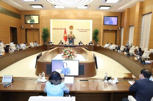 第46届国会常务委员会:越南第十四届国会第十次会议将继续以视频形式召开 hinh anh 2