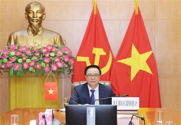 越南在国际政党圆桌视频会议上分享新冠肺炎疫情防控经验 hinh anh 1
