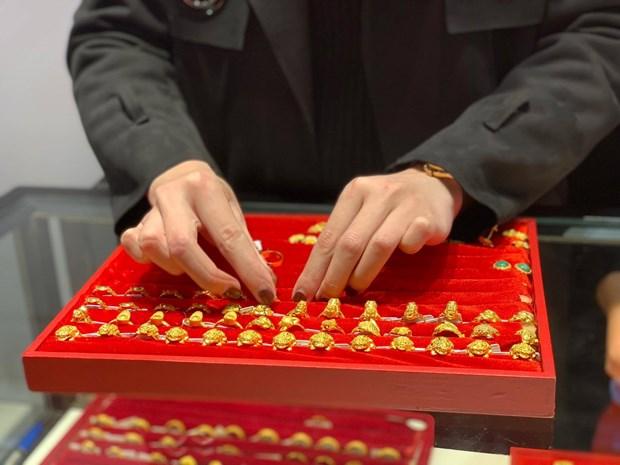 7月15日越南国内黄金价格上调16万越盾 hinh anh 1