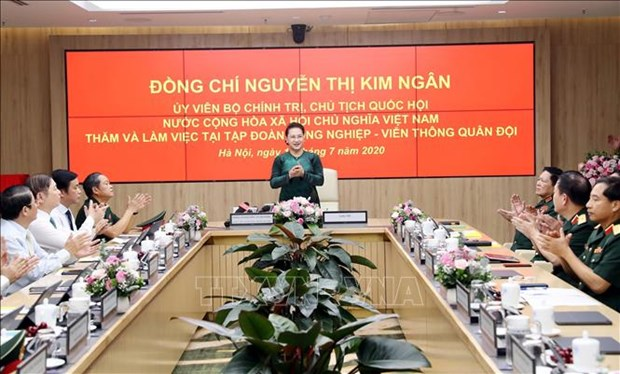 国会主席阮氏金银:Viettel需继续发挥率先构建越南数字生活、数字社会的作用 hinh anh 1