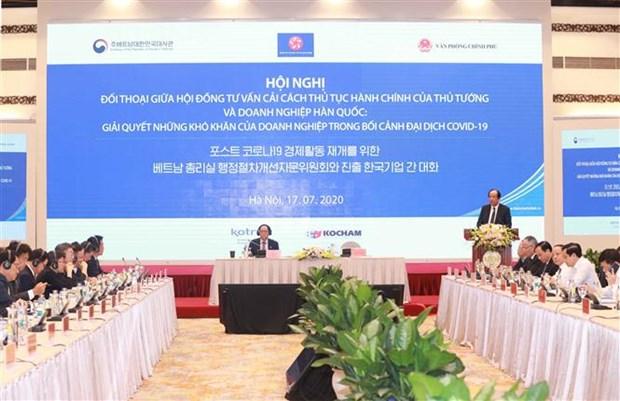 帮助在越南的韩国企业解决在新冠肺炎疫情背景下遇到的困难 hinh anh 1