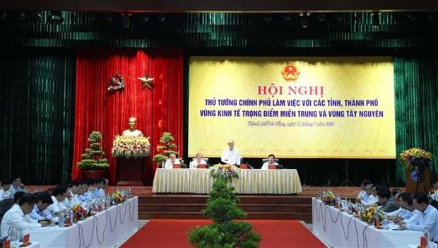 阮春福总理:中部西原地区任何省市不能出现负增长 确保公共投资项目资金到位率达近100% hinh anh 1