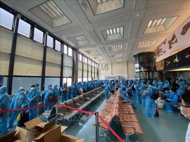 新冠肺炎疫情:把在中国台湾的300多名越南公民接回国 hinh anh 1